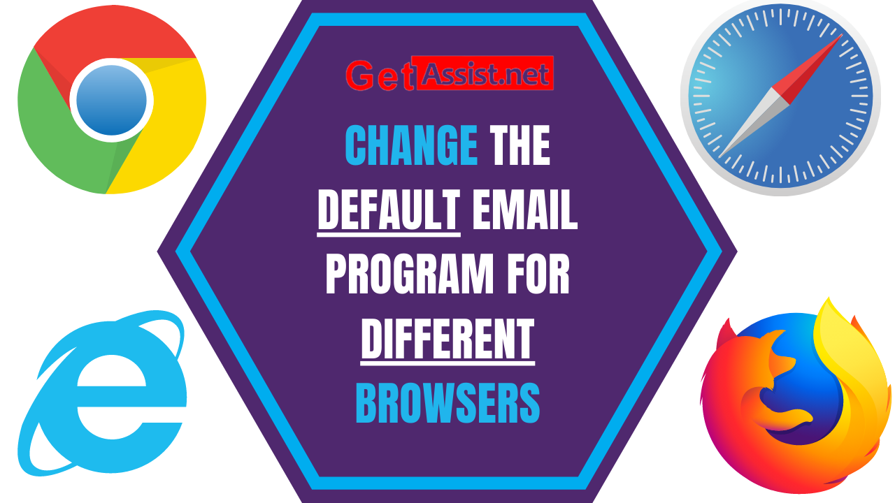 How to change the default email program for different browsers